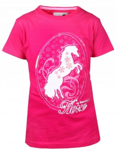 Red Horse T-Shirt in Flamingo